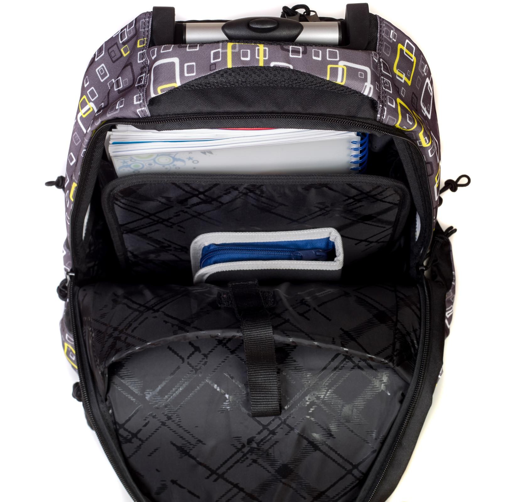 Рюкзак на колесах с выдвижной ручкой Belmil Роза 338-45/655 Rose, - фото 8