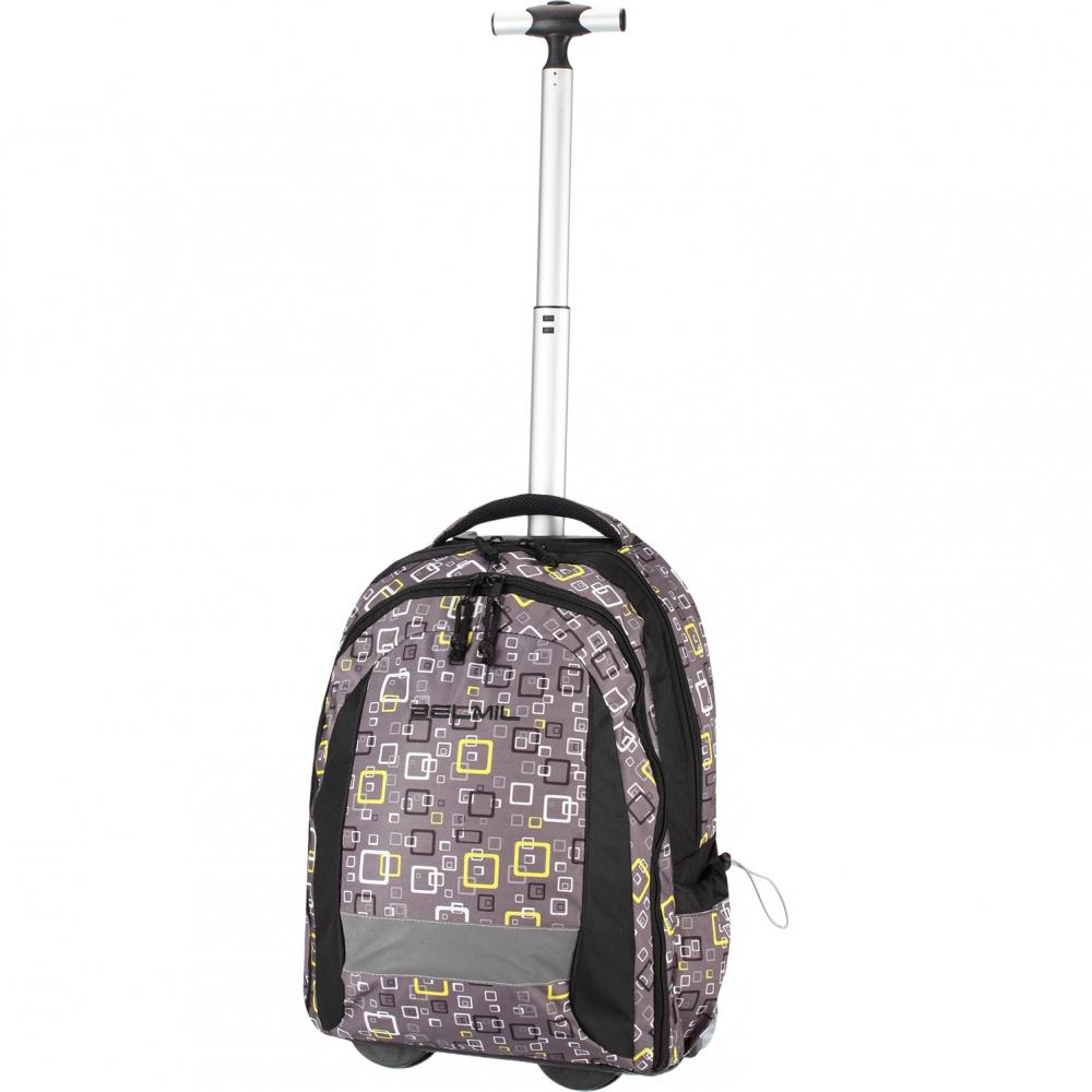 Рюкзак на колесах с выдвижной ручкой Belmil Роза 338-45/655 Rose, - фото 15