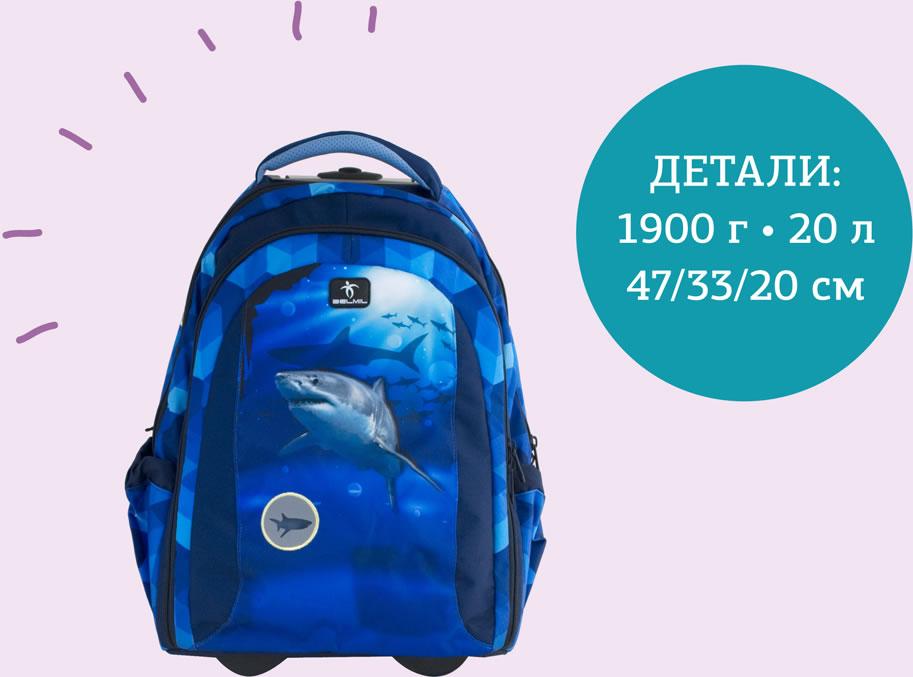 Рюкзак на колесах с выдвижной ручкой Belmil Роза 338-45/655 Rose, - фото 14