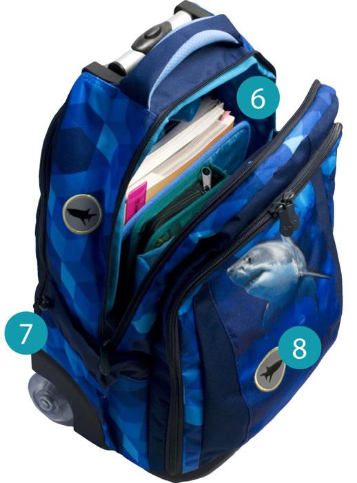 Рюкзак на колесах с выдвижной ручкой Belmil Роза 338-45/655 Rose, - фото 9
