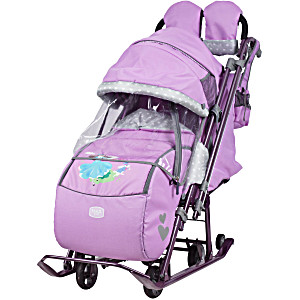 Санки коляска Ника Детям 7 4 лиловый