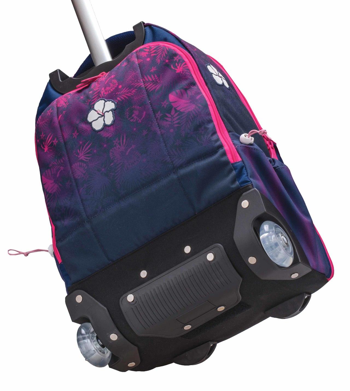 Рюкзак на колесах с выдвижной ручкой Belmil Роза 338-45/655 Rose, - фото 4
