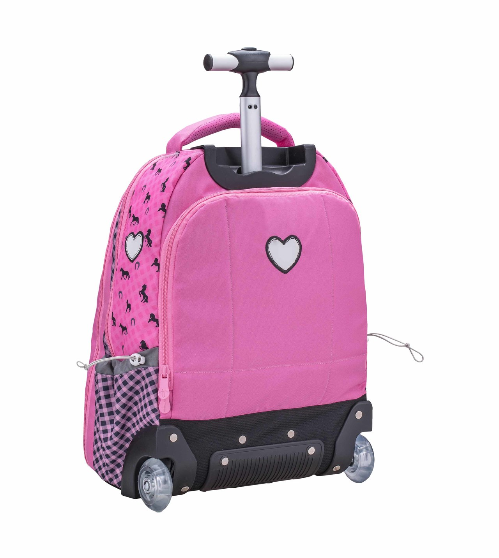 Рюкзак на колесах с выдвижной ручкой Belmil Роза 338-45/655 Rose, - фото 2