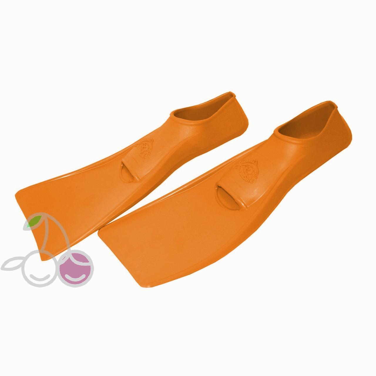 Ласты для бассейна резиновые детские размеры 27-28 оранжевые ПРОПЕРКЭРРИ (ProperCarry), - фото 2