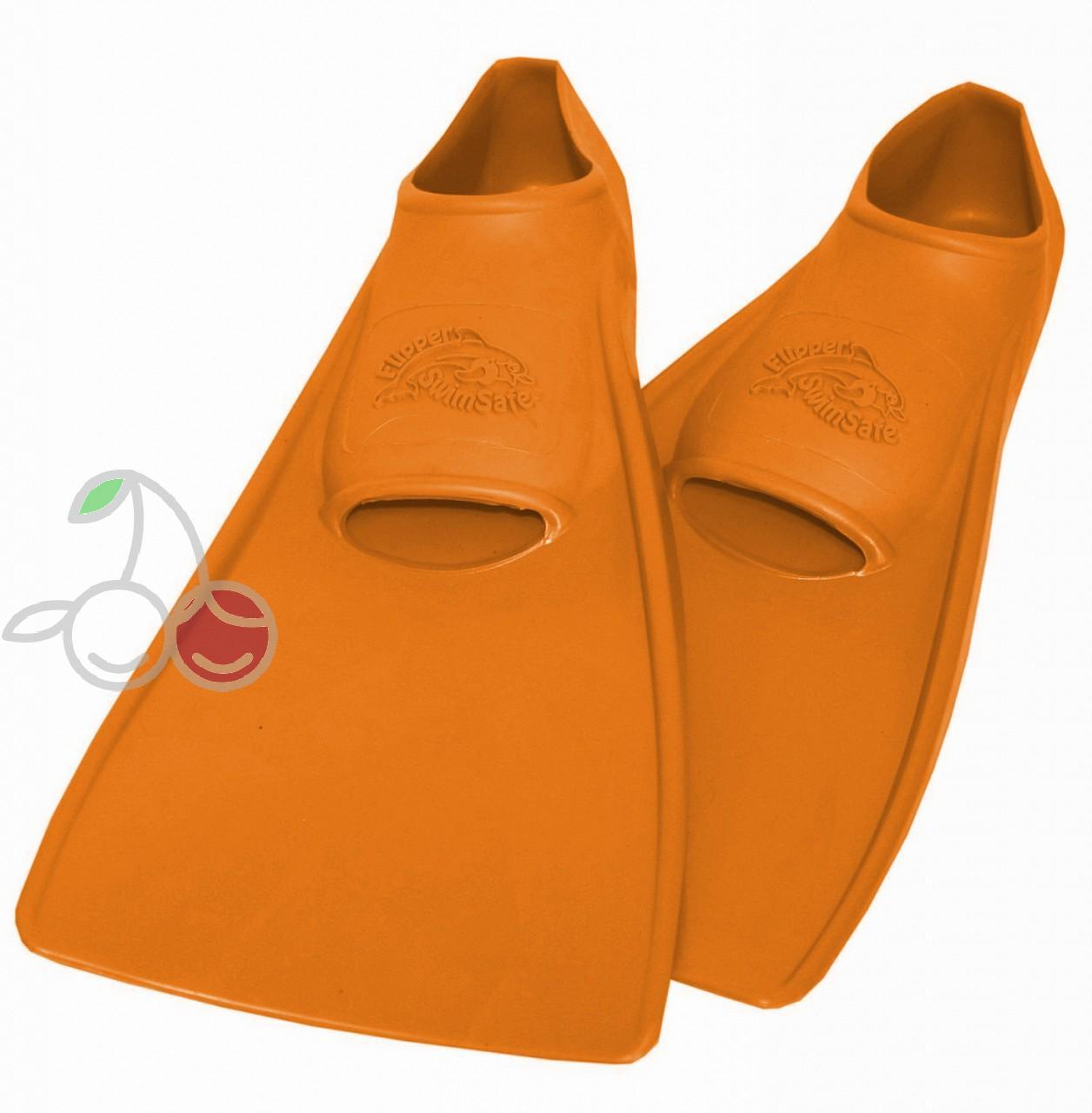 Ласты для бассейна резиновые детские размеры 27-28 оранжевые ПРОПЕРКЭРРИ (ProperCarry), - фото 1