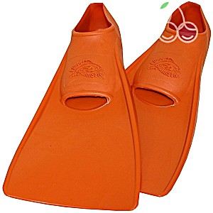 Ласты детские эластичные маленький размер 24 оранжевые закрытая пятка ProperCarry (ПРОПЕРКЭРРИ)